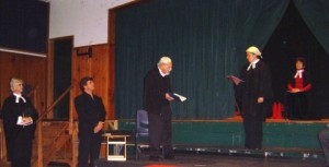 Shylock appears in court before the Duchess (Sandra Gillespie)